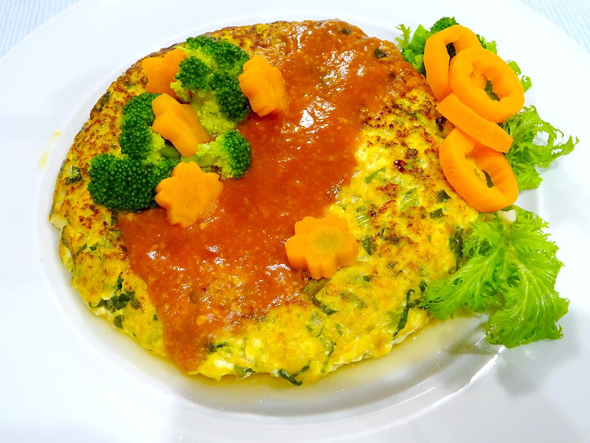 豆腐と野菜のビッグみそハンバーグ