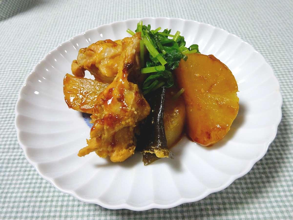 鶏手羽大根・みそ風味(炊飯器版)