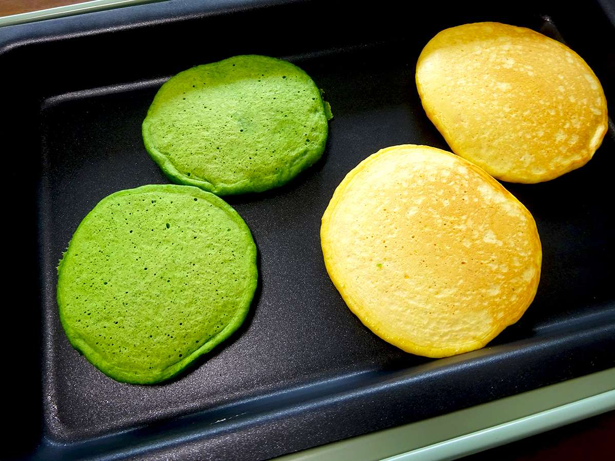 野菜のヘルシーパンケーキ(ホットプレート版)